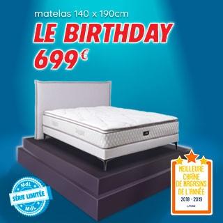 Profitez de notre matelas en série limitée, conçu pour fêter notre 39e anniversaire !